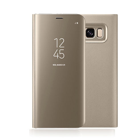 Imagine Husa Flip Mirror Clear View Samsung Galaxy S9 Gold
