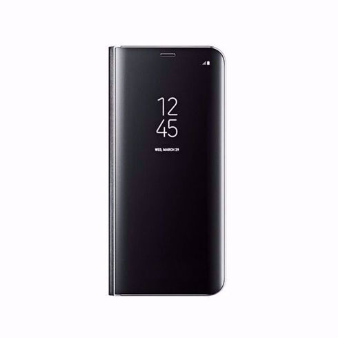 Imagine Husa Flip Mirror Clear View Samsung Galaxy Note 8 Neagra