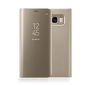Imagine Husa Flip Mirror Clear View Samsung Galaxy S7 Edge Gold