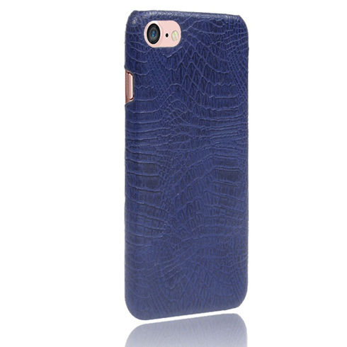 Imagine Husa TPU Crocco Leather iPhone 6 Albastra
