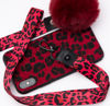 Imagine Husa Luxury Fashion Animal Print cu Pom Pom iPhone 7/8 Rosie