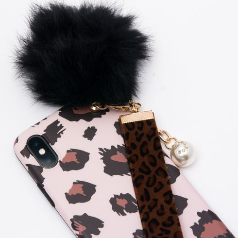 Imagine Husa Luxury Fashion cu Pom Pom iPhone 7 Plus/8 Plus Nude